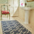 juno navy blue colour rug lifestyle