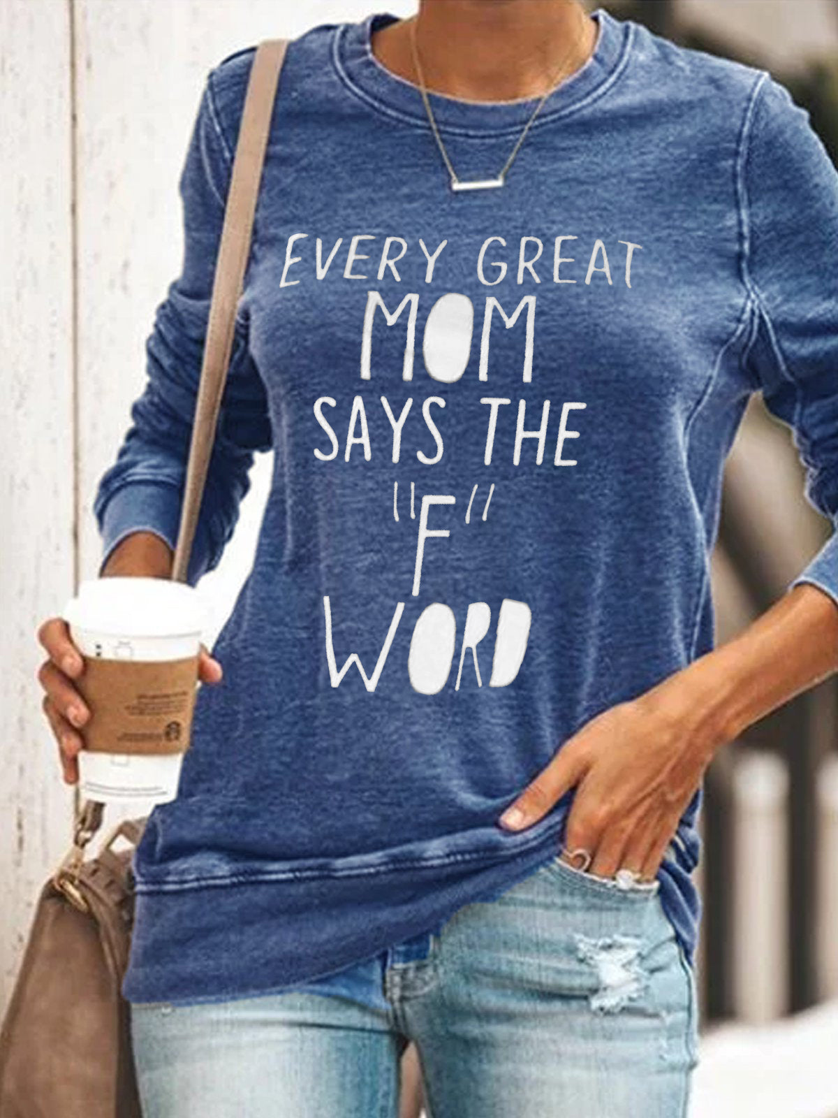 "Every Great Mom Says the ""F"" Word Long Sleeve Top"