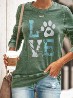 Women's paw LOVE printed sweatshirt