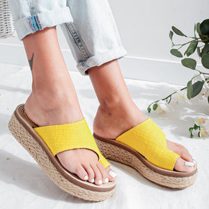 Round head PU PU rubber Adhesive shoes Flats Daily shoes Wild summer
