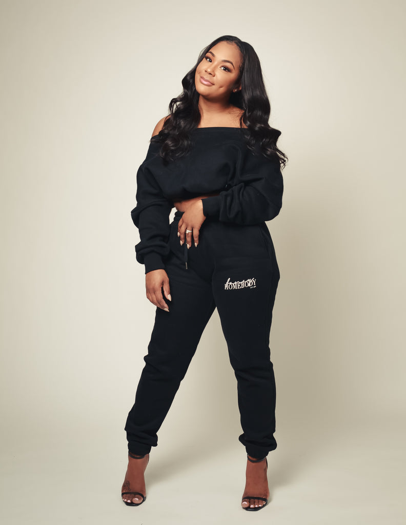 AVAILABLE 2/20: Signature Luxe | Off the Shoulder Jogger Set
