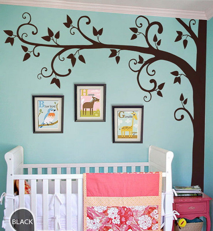 Photo Scroll Branch Tree Wall Decals Nursery Kids Decor Wall Art