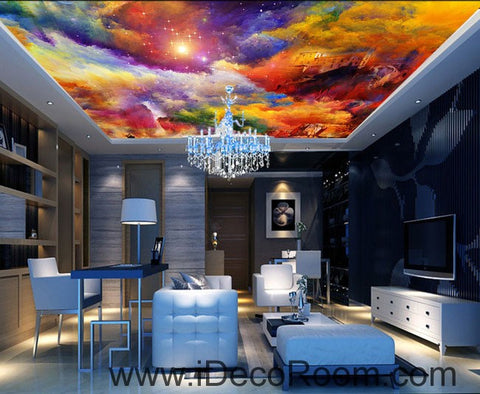 Image of Colorful Clouds 00059 Ceiling Wall Mural Wall paper Decal Wall Art Print Decor Kids wallpaper