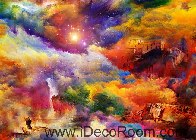 Colorful Clouds 00059 Ceiling Wall Mural Wall paper Decal Wall Art Print Decor Kids wallpaper