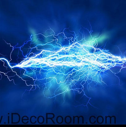 Image of Lightning Dark Blue Sky 00060  Ceiling Wall Mural Wall paper Decal Wall Art Print Decor Kids wallpaper
