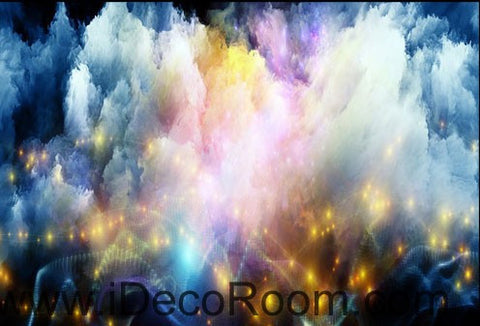 Image of Colorful Light Clouds 00065 Ceiling Wall Mural Wall paper Decal Wall Art Print Decor Kids wallpaper