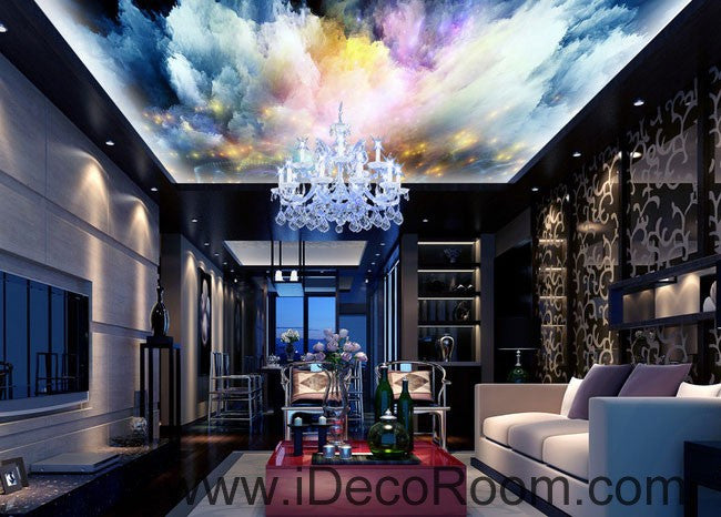 Colorful Light Clouds 00065 Ceiling Wall Mural Wall paper Decal Wall Art Print Decor Kids wallpaper