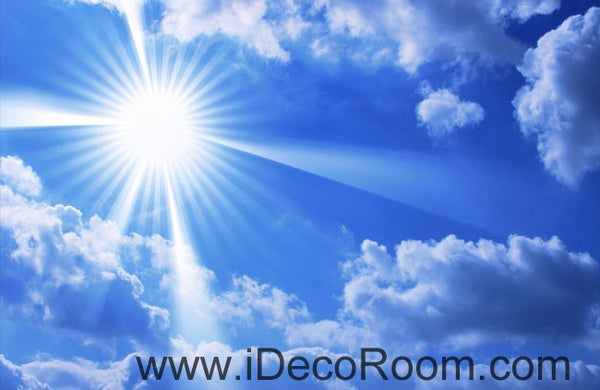 Sunny Day Clouds Blue Sky 00068 Ceiling Wall Mural Wall