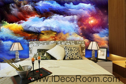 Image of Abstract Sun Clouds Unvierse 00069 Ceiling Wall Mural Wall paper Decal Wall Art Print Decor Kids wallpaper