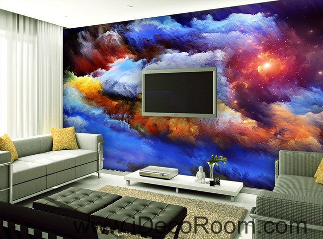 Abstract Sun Clouds Unvierse 00069 Ceiling Wall Mural Wall paper Decal Wall Art Print Decor Kids wallpaper