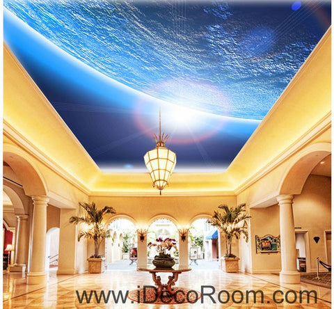 Image of Outer Space Earth 00070 Ceiling Wall Mural Wall paper Decal Wall Art Print Decor Kids wallpaper