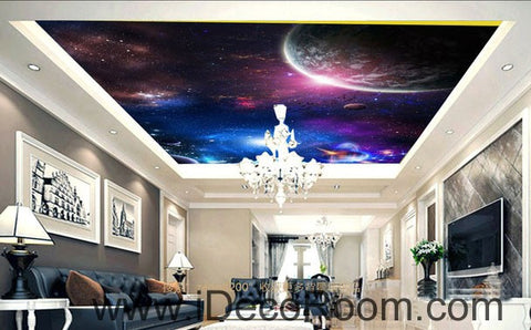 Image of Planet Galaxy Earth Ourter Space 00071 Ceiling Wall Mural Wall paper Decal Wall Art Print Decor Kids wallpaper