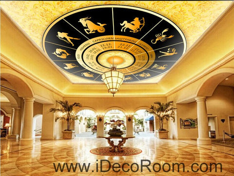 Image of Golden Star Sign Map 00072 Ceiling Wall Mural Wall paper Decal Wall Art Print Decor Kids wallpaper