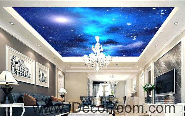 Galaxy Star Moon 00073 Ceiling Wall Mural Wall Paper Decal Wall Art Print  Decor Kids Wallpaper Part 55