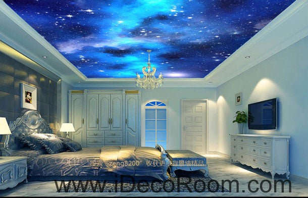 Galaxy Star Moon 00073 Ceiling Wall Mural Wall paper Decal Wall Art Print Decor Kids wallpaper