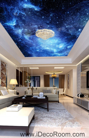 Image of Galaxy Stars Night Sky 00075 Ceiling Wall Mural Wall paper Decal Wall Art Print Decor Kids wallpaper