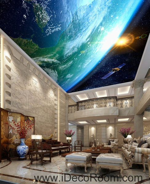 Sun Earth Ourterspace Satellite 00076 Ceiling Wall Mural