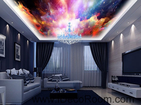 Image of Colourful Nubela Star 00085 Ceiling Wall Mural Wall paper Decal Wall Art Print Decor Kids wallpaper