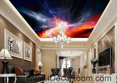 Lightning Shade Sky 00086 Ceiling Wall Mural Wall paper Decal Wall Art Print Decor Kids wallpaper