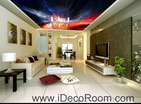 Image of Lightning Shade Sky 00086 Ceiling Wall Mural Wall paper Decal Wall Art Print Decor Kids wallpaper