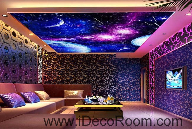 Planets Outerspace Night Sky 00088 Ceiling Wall Mural Wall paper Decal Wall Art Print Decor Kids wallpaper