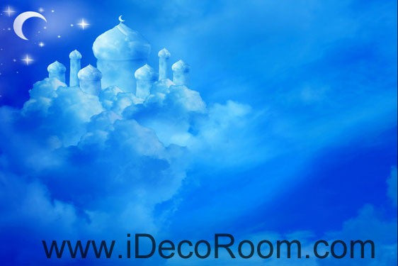 Clouds Castle Moon Fantacy Nursery Kids 00089 Ceiling Wall Mural Wall paper Decal Wall Art Print Decor Kids wallpaper