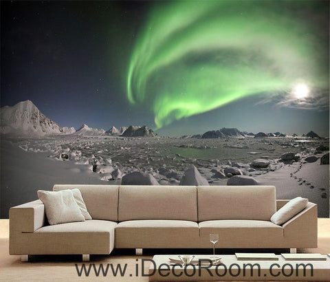 Image of The aurora Sky Mountain 00090 Ceiling Wall Mural Wall paper Decal Wall Art Print Decor Kids wallpaper