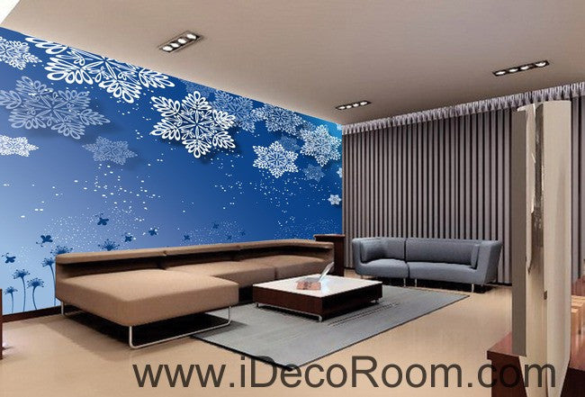 Snowflakes Flower 00091 Ceiling Wall Mural Wall paper Decal Wall Art Print Decor Kids wallpaper