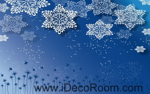 Image of Snowflakes Flower 00091 Ceiling Wall Mural Wall paper Decal Wall Art Print Decor Kids wallpaper