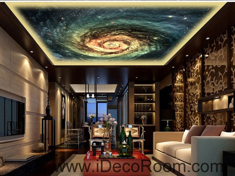 Image of Stars Swirl Space Sky 00093 Ceiling Wall Mural Wall paper Decal Wall Art Print Decor Kids wallpaper