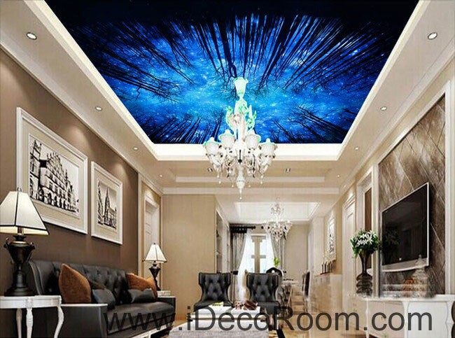 Star Night Forest Sky 00099 Ceiling Wall Mural Wall Paper