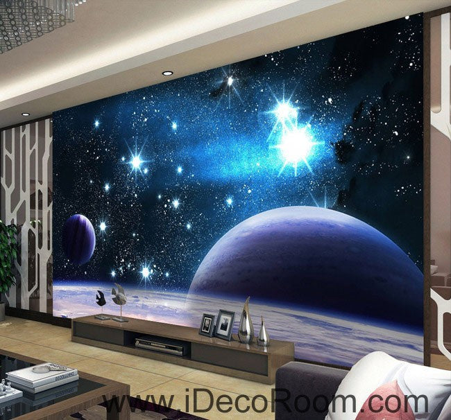 High Quality Planets Star Night Sky 00100 Wall Mural Wall Paper Decal Wall Art Print  Decor Kids Wallpaper Part 22