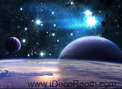 Image of Planets Star Night Sky 00100 Wall Mural Wall paper Decal Wall Art Print Decor Kids wallpaper