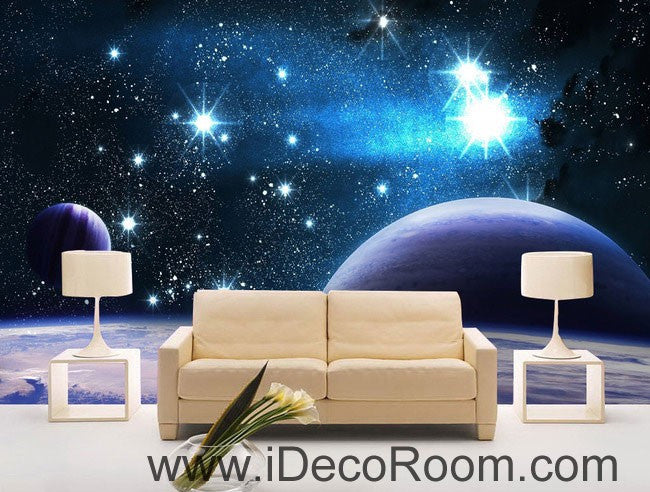 Planets Star Night Sky 00100 Wall Mural Wall paper Decal Wall Art Print Decor Kids wallpaper