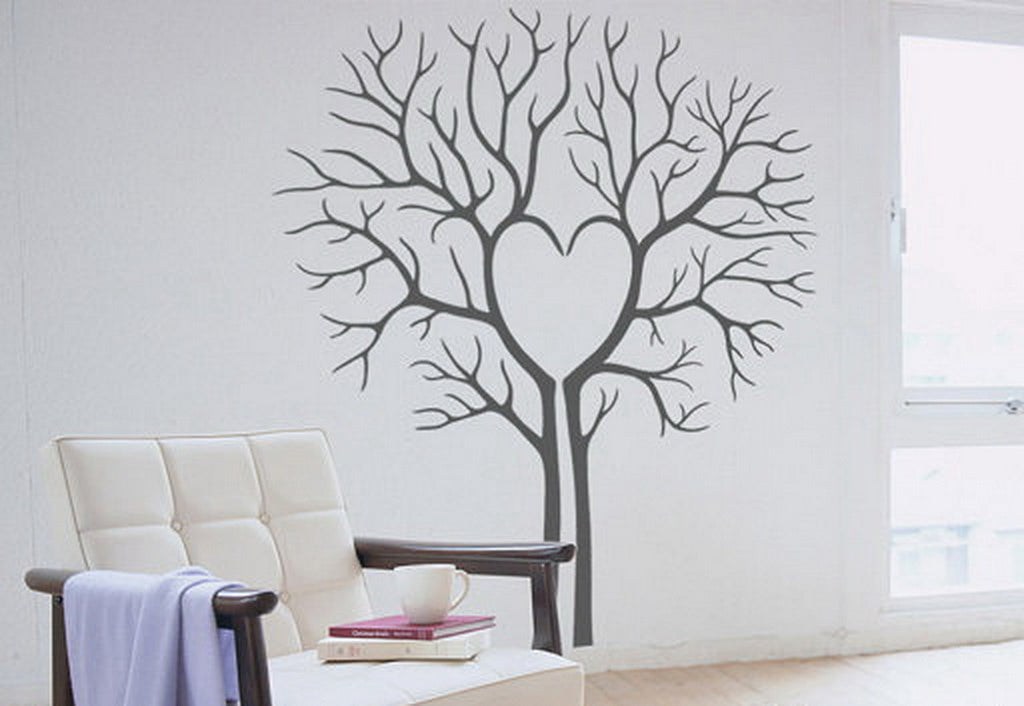 Heart Tree Lover Wall Decals Art Decor Valentine's Day Anniversary Gifts