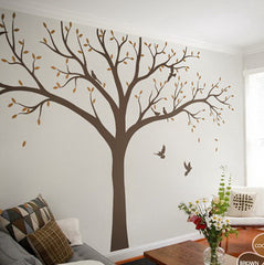 High 2.4m Giant Bird Baby Cot Side Tree Nursery Wall Decals Stickers Art Wall Mural Home Decor Living Room Bedroom