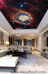 Nebula Star Cirble Universe Wallpaper Wall Decals Wall Art Print Business Kids Wall Paper Nursery Mural Home Decor Removable Wall Stickers Ceiling Decal