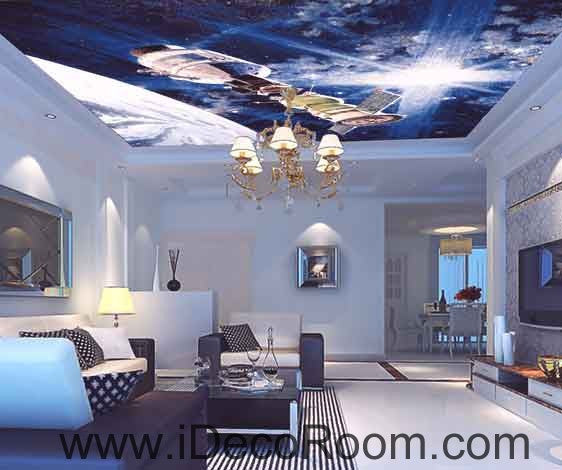 Outer Space Star Sun Lignt Wallpaper Wall Decals Wall Art Print Business Kids Wall Paper Nursery Mural Home Decor Removable Wall Stickers Ceiling Decal