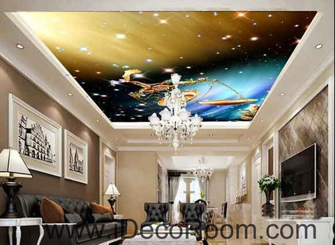 Image of Libra Star Sign Goden Light Wallpaper Wall Decals Wall Art Print Business Kids Wall Paper Nursery Mural Home Decor Removable Wall Stickers Ceiling Decal