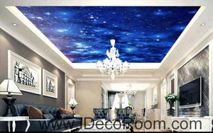 Twinkle Stars Night Sky Wallpaper Wall Decals Wall Art Print Business Kids Wall Paper Nursery Mural Home Decor Removable Wall Stickers Ceiling Decal