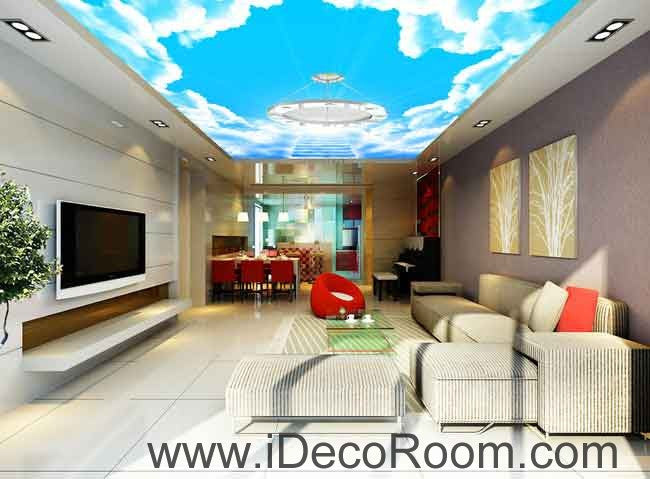 Sunlight Heaven Stage Clouds Sky Wallpaper Wall Decals Wall Art Print Business Kids Wall Paper Nursery Mural Home Decor Removable Wall Stickers Ceiling Decal