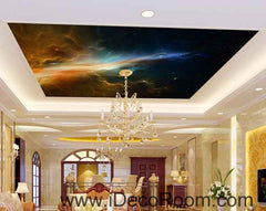 Nebula Star Night Universe Wallpaper Wall Decals Wall Art Print Business Kids Wall Paper Nursery Mural Home Decor Removable Wall Stickers Ceiling Decal