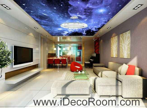 Image of Starlight Twinkling Star Wallpaper Wall Decals Wall Art Print Business Kids Wall Paper Nursery Mural Home Decor Removable Wall Stickers Ceiling Decal