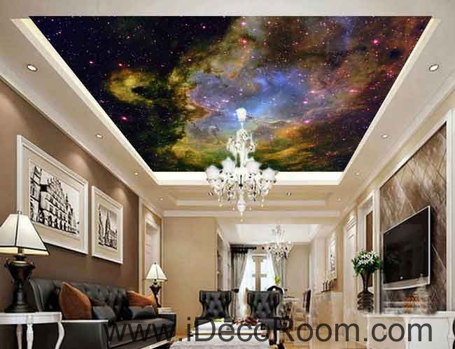 Nebula Clouds Star Wallpaper Wall Decals Wall Art Print Business Kids Wall Paper Nursery Mural Home Decor Removable Wall Stickers Ceiling Decal