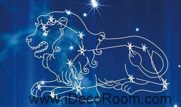 Blue Sky Moon 12 Star Signs Wallpaper Wall Decals Wall Art Print Business Kids Wall Paper Nursery Mural Home Decor Removable Wall Stickers Ceiling Decal