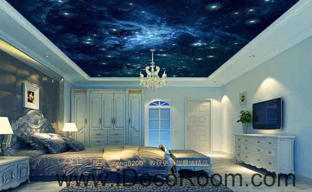 Galaxy Star Sky Wallpaper Wall Decals Wall Art Print Business Kids Wall Paper Nursery Mural Home Decor Removable Wall Stickers Ceiling Decal