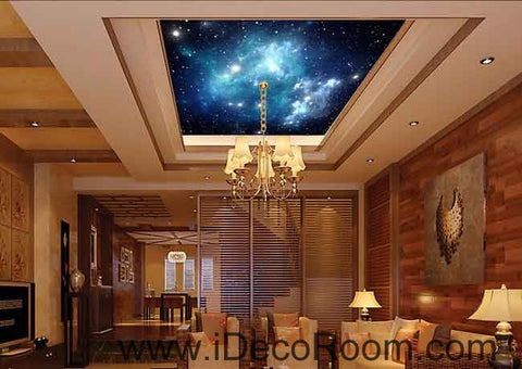 Starry Sky Galaxy Space Wallpaper Wall Decals Wall Art Print Business Kids Wall Paper Nursery Mural Home Decor Removable Wall Stickers Ceiling Decal