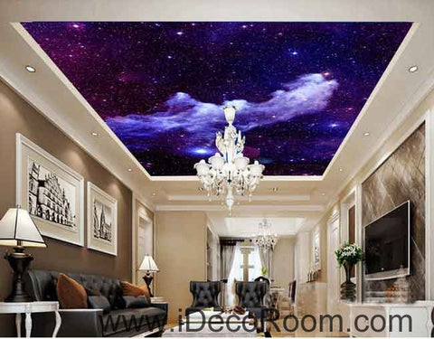 Image of Smoky Star Skylight Wallpaper Wall Decals Wall Art Print Business Kids Wall Paper Nursery Mural Home Decor Removable Wall Stickers Ceiling Decal