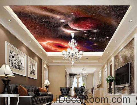Image of Purple Star Background Wallpaper Wall Decals Wall Art Print Business Kids Wall Paper Nursery Mural Home Decor Removable Wall Stickers Ceiling Decal