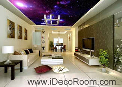 Mystery Star Wallpaper Wall Decals Wall Art Print Business Kids Wall Paper Nursery Mural Home Decor Removable Wall Stickers Ceiling Decal